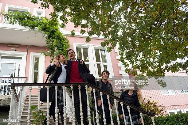 Four Turkish Students Having Free Time, School, University, Istanbul