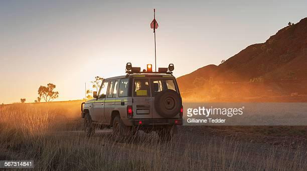 Four wheel drive at dawn