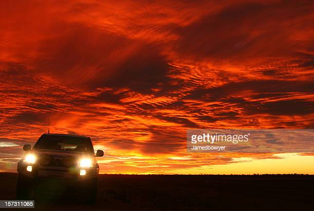Four Wheel Drive at Sunset