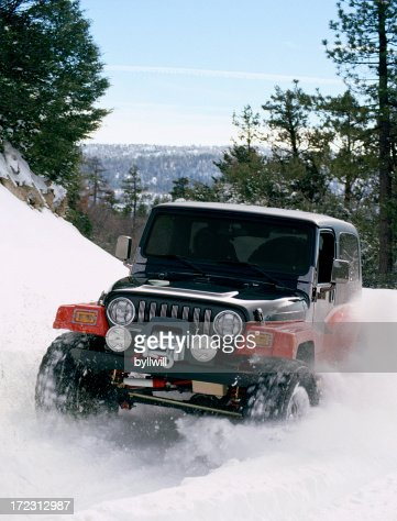 Four wheel'in in the snow (35mm slide)
