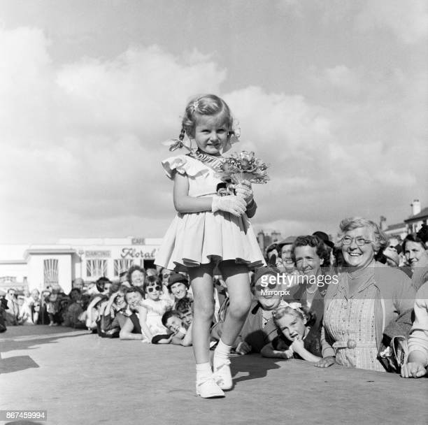 Four year old Marilyn has been selected as the 'Southport Rosebud' of 1956 in the children's competition Southport Merseyside 10th September 1956