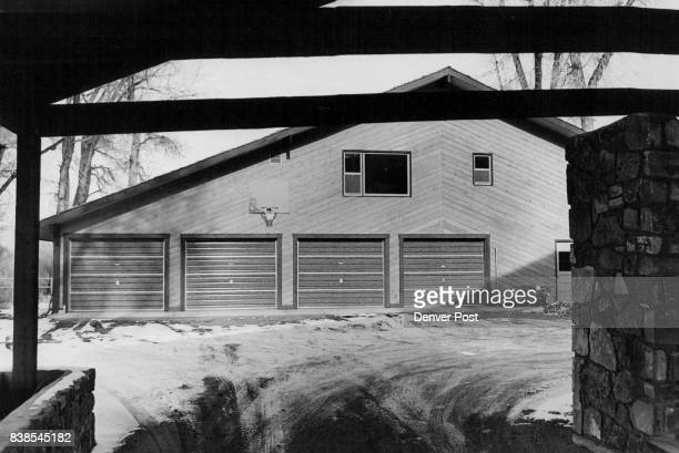 FourCar Garage Is Heated Has Heating Plant Quarters Upstairs For Caretaker Pipes from heating plant lead underground to the house so 'it's perfectly...