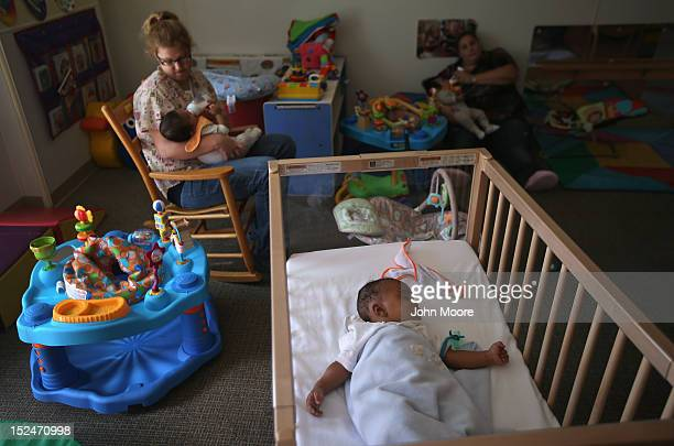 Fourmonthold Joaquin naps in the baby room at the federallyfunded Head Start school on September 20 2012 in Woodbourne New York The school provides...