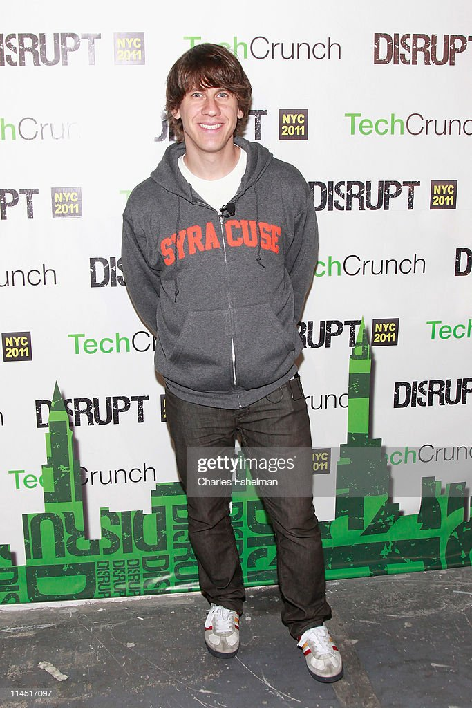 Foursquare Co-founder <a gi-track='captionPersonalityLinkClicked' href=/galleries/search?phrase=Dennis+Crowley&family=editorial&specificpeople=6729326 ng-click='$event.stopPropagation()'>Dennis Crowley</a> attends TechCrunch Disrupt New York May 2011 at Pier 94 on May 23, 2011 in New York City.