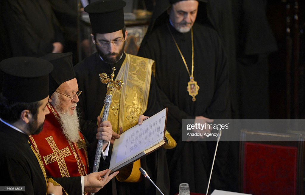 Fourteen Orthodox Church patriarchs and archbishops gather in Church of St George upon the invitation of Greek Orthodox Patriarch Bartholomew in...