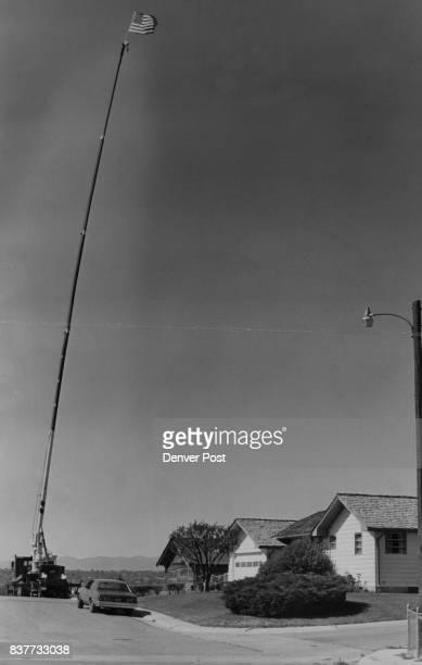 Fourth Of July 19701979 6241 Allison St Arvada Home of Randy Sorensen Flag on top of a 115ft Boom truck Credit Denver Post