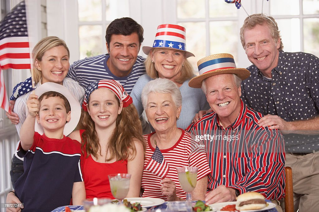 Fourth of July Family Party : Stock Photo