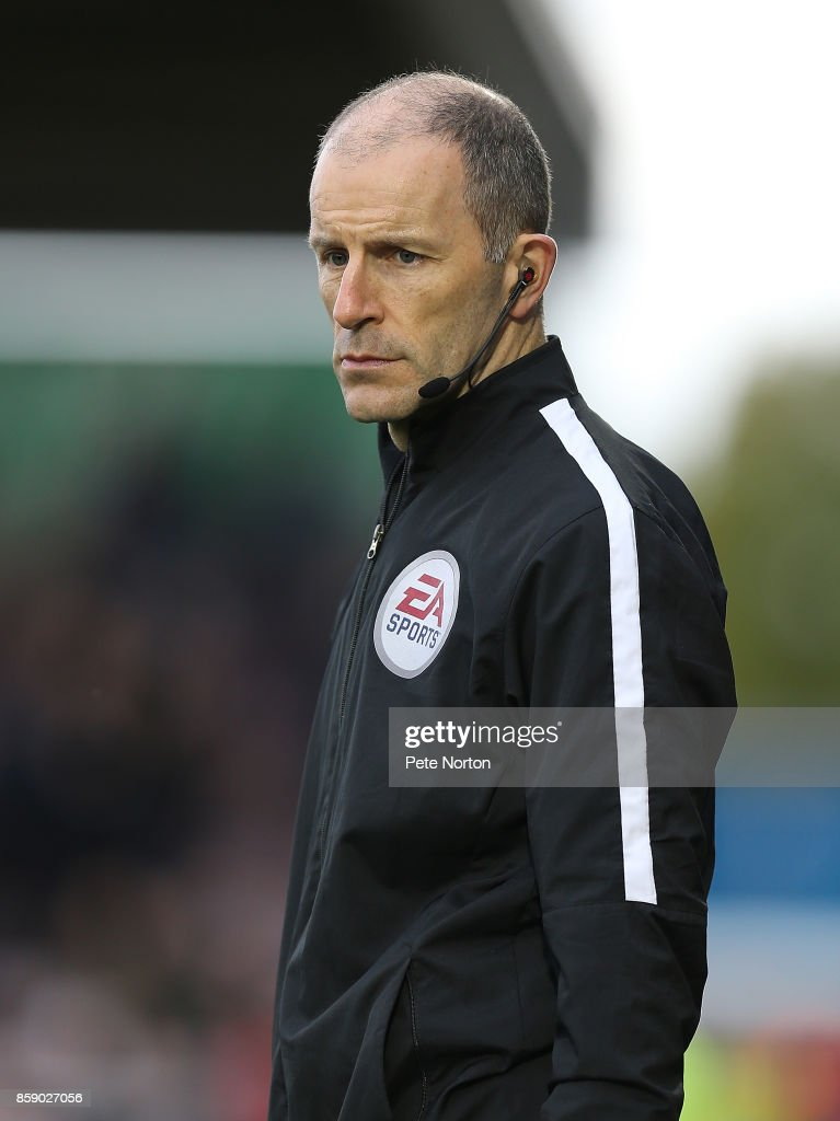 Fourth Official Graham Horwood looks on during the Sky Bet League One match between Northampton Town and Bristol Rovers at Sixfields on October 7, 2017 in Northampton, England.
