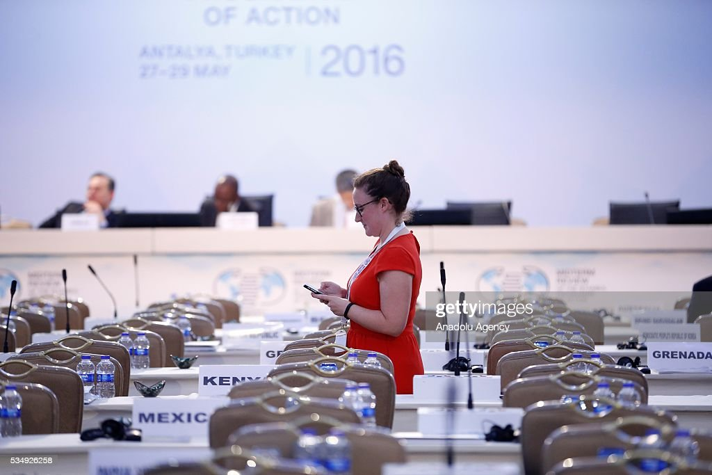 Fourth plenary session within the Midterm Review of the Istanbul Programme of Action is held at Titanic Hotel in Antalya, Turkey on May 28, 2016. The Midterm Review conference for the Istanbul Programme of Action for the Least Developed Countries takes place in Antalya, Turkey from 27-29 May 2016.