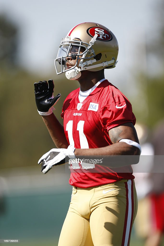 Fourth round draft pick Quinton Patton works out during the San Francisco 49ers Rookie Camp at the team training complex facility on May 10, 2013 in Santa Clara, California