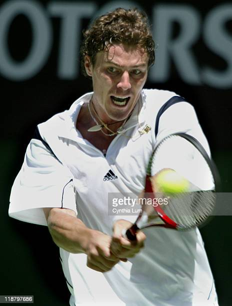 Fourth seed Marat Safin survived an injury scare as he battled past Mario Ancic 64 36 63 64 in Melbourne Januray 21 2005