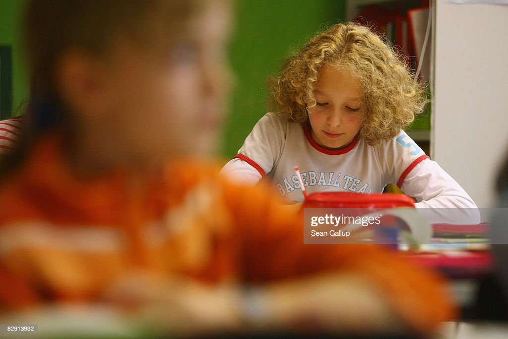Fourth-grade children attend class in the elementary school at the John F. Kennedy Schule dual-language public school on September 18, 2008 in Berlin, Germany. The German government will host a summit on education in Germany scheduled for mid-October in Dresden. Germany has consistantly fallen behind in recent years in comparison to other European countries in the Pisa education surveys, and Education Minister Annette Schavan is pushing for an 8 percent increase in the national educaiton budget for 2009.