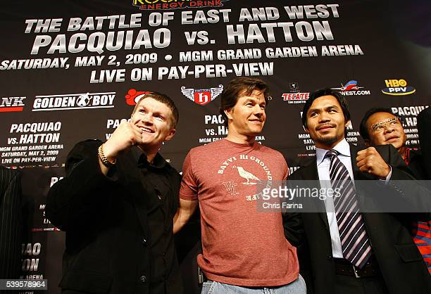 Fourtime world champion and pound for pound king Manny 'Pacman' PacquiaoGeneral SantosPhilippines and Ricky 'The Hitman' HattonManchesterEngland walk...
