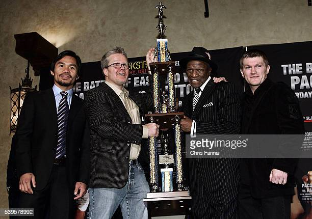 Fourtime world champion and pound for pound king Manny 'Pacman' PacquiaoGeneral SantosPhilippines Pacquiao trainer Freddie Roach Hatton trainer Floyd...