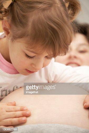 mom caresses daughter video