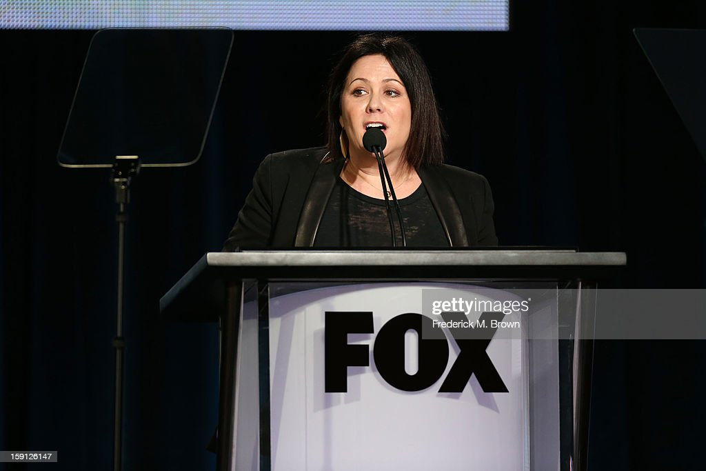 Fox Broadcasting Company Executive Vice President of Marketing & Communications Shannon Ryan speaks onstage during the FOX portion of the 2013 Winter TCA Tour at Langham Hotel on January 8, 2013 in Pasadena, California.
