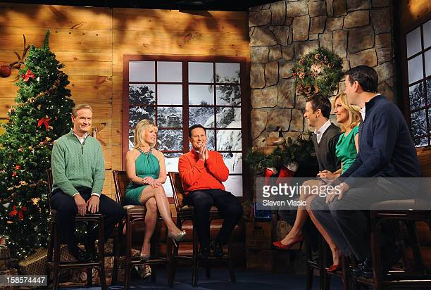 Fox Friends cohosts Steve Doocy Gretchen Carlson Brian Kilmeade Dave Briggs Alisyn Camerota and Clayton Morris attend Fox Friends Christmas Special...