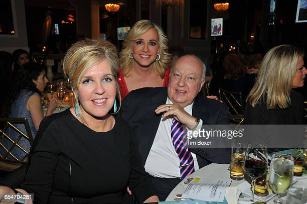 Fox News chairman Roger Ailes and his wife Elizabeth Tilson Ailes attend a dinner of the New York Jewish Community Relations Council at the Pierre...