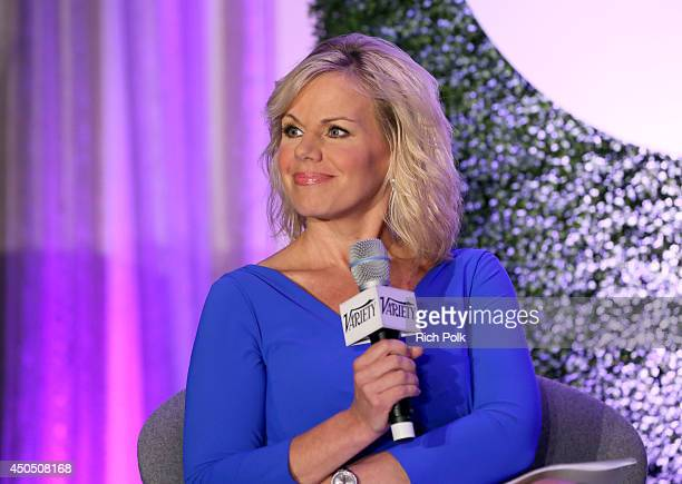 Fox News Channel Host Gretchen Carlson speaks onstage during a 'Fireside Chat on Persecuted' at Variety's Purpose The Family Entertainment and...
