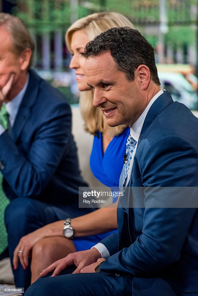 Fox News Host Brian Kilmeade during actor Eric Stonestreet and Mother Jamey Stonestreet Visit 'Fox & Friends' at FOX Studios on May 5, 2016 in New York City.