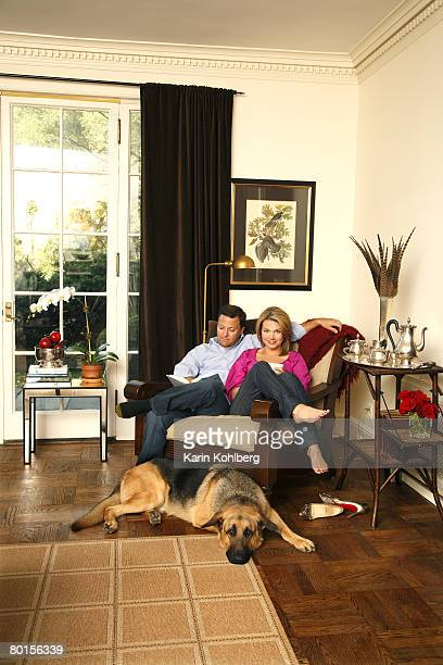 Fox news host Heather Nauert is photographed with her husband Scott at their home on the north shore of Long Island for Page Six Magazine Published...