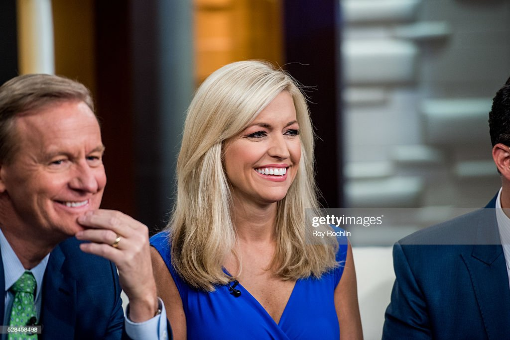 Fox News Hosts Steve Doocy and Ainsley Earhardt during actor Eric Stonestreet and Mother Jamey Stonestreet Visit 'Fox & Friends' at FOX Studios on May 5, 2016 in New York City.
