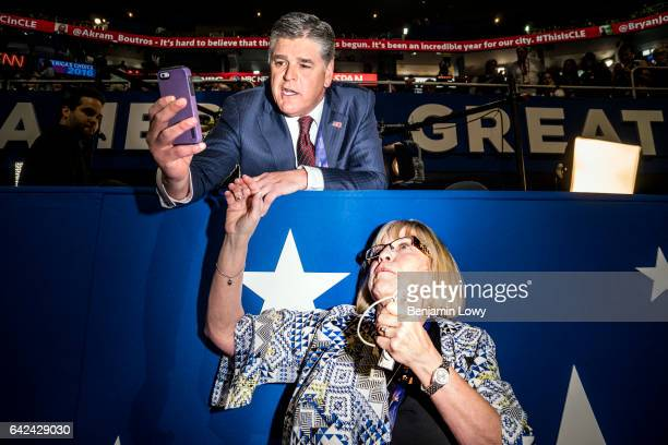 Fox News personality Sean Hannity at the Republican National Convention in Cleveland OH