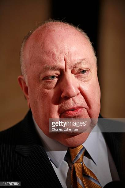 Fox News President Roger Ailes attends the Hollywood Reporter celebrates 'The 35 Most Powerful People in Media' at the Four Season Grill Room on...
