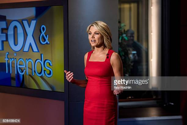 Fox Newscaster Heather Nauert tells the news during Eric Stonestreet and Mother Jamey Stonestreet Visit 'Fox Friends' at FOX Studios on May 5 2016 in...