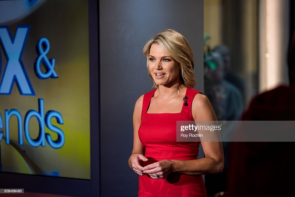 Fox Newscaster Heather Nauert tells the news during Eric Stonestreet and Mother Jamey Stonestreet Visit 'Fox & Friends' at FOX Studios on May 5, 2016 in New York City.