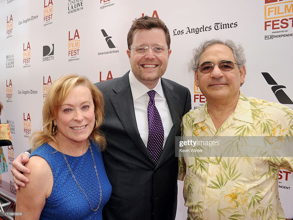 Fox Searchlight Pictures President <a gi-track='captionPersonalityLinkClicked' href=/galleries/search?phrase=Steve+Gilula&family=editorial&specificpeople=806841 ng-click='$event.stopPropagation()'>Steve Gilula</a>, producer Tom Rice and Fox Searchlight Pictures President <a gi-track='captionPersonalityLinkClicked' href=/galleries/search?phrase=Nancy+Utley&family=editorial&specificpeople=705439 ng-click='$event.stopPropagation()'>Nancy Utley</a> attend 'The Way, Way Back' premiere during the 2013 Los Angeles Film Festival at Regal Cinemas L.A. Live on June 23, 2013 in Los Angeles, California.