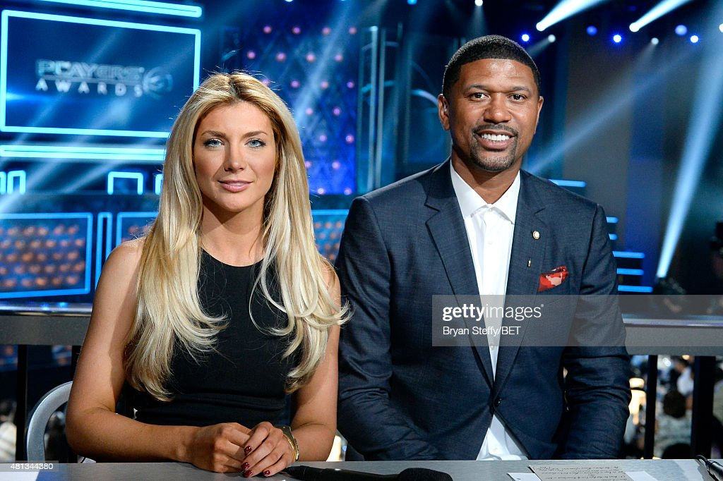 Fox Sports' Kaileigh Brandt (L) and sports analyst <a gi-track='captionPersonalityLinkClicked' href=/galleries/search?phrase=Jalen+Rose&family=editorial&specificpeople=201704 ng-click='$event.stopPropagation()'>Jalen Rose</a> attend attend The Players' Awards presented by BET at the Rio Hotel & Casino on July 19, 2015 in Las Vegas, Nevada.