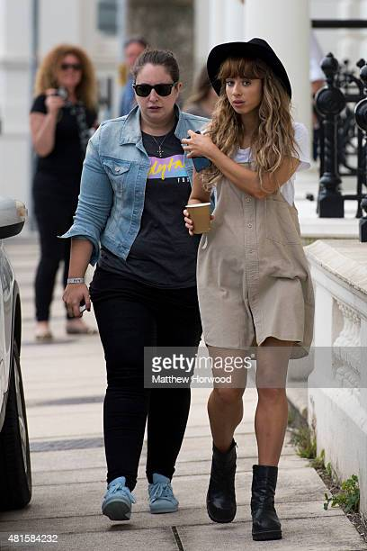 Foxes arrives the MTV Crashes Plymouth concert at Plymouth Hoe on July 22 2014 in Plymouth England