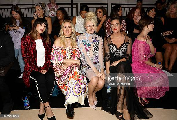 Foxes Ellie Goulding Pixie Lott guest and Sai Bennett at the Temperley London x Vero SS17 Fashion Show at The Lindley Hall on September 18 2016 in...