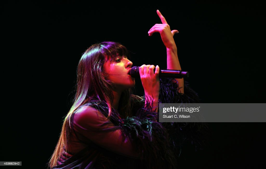 Foxes performs on Day 1 of the V Festival at Hylands Park on August 16, 2014 in Chelmsford, England.