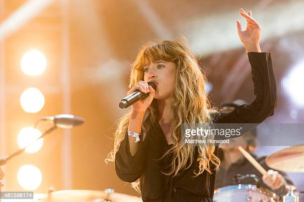 Foxes performs on stage during MTV Crashes Plymouth at Plymouth Hoe on July 22 2014 in Plymouth England