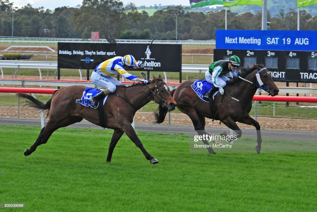 Foxling ridden by Andrew Mallyon wins the JBL Catering Maiden Plate at Seymour Racecourse on August 19, 2017 in Seymour, Australia.