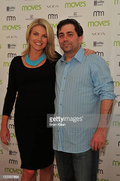 Fox's Heather Nauert and Ed McFarland of Ed's Lobster Bar attend Moves Summer 2010 at Studio 450 on July 6 2010 in New York City