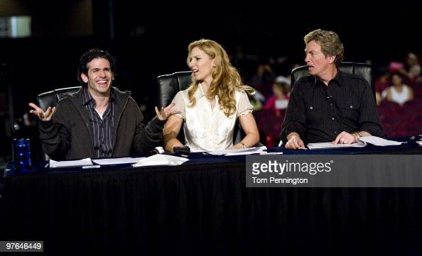 Fox's 'So You Think You Can Dance' judges Tyce Diorio Toni Redpath and Nigel Lythgoe during Season 7 Auditions March 11 2010 in Dallas Texas