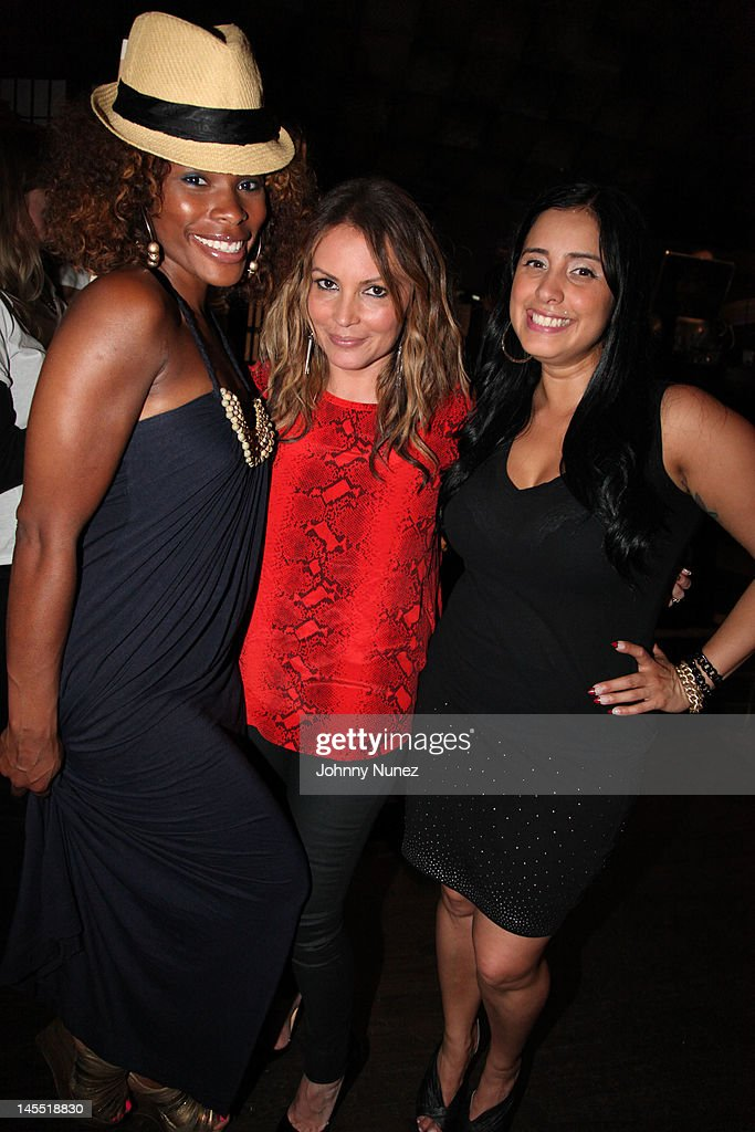 K Foxx, <a gi-track='captionPersonalityLinkClicked' href=/galleries/search?phrase=Angie+Martinez&family=editorial&specificpeople=664057 ng-click='$event.stopPropagation()'>Angie Martinez</a> and Laura Stylez attend the NY Giants Justin Tuck 4th Annual celebrity billiards tournament at Slate NYC on May 31, 2012 in New York City.