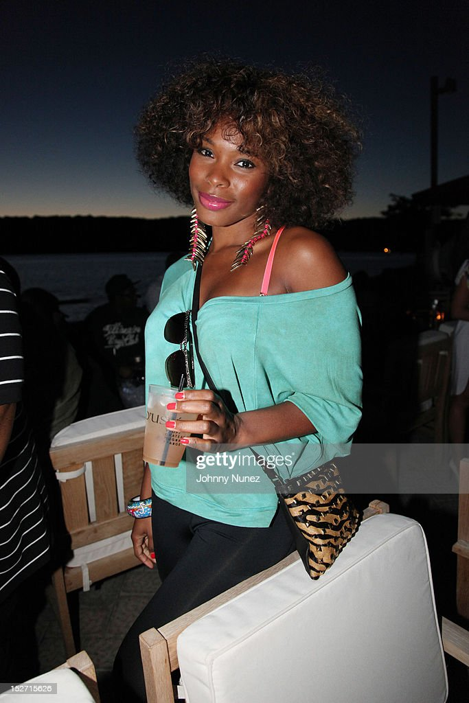 K Foxx attends the Jay-Z And Beyonce Summer Ends With D'USSE Cognac Cocktails Celebration at La Marina Restaurant Bar Beach Lounge on September 23, 2012 in New York City.