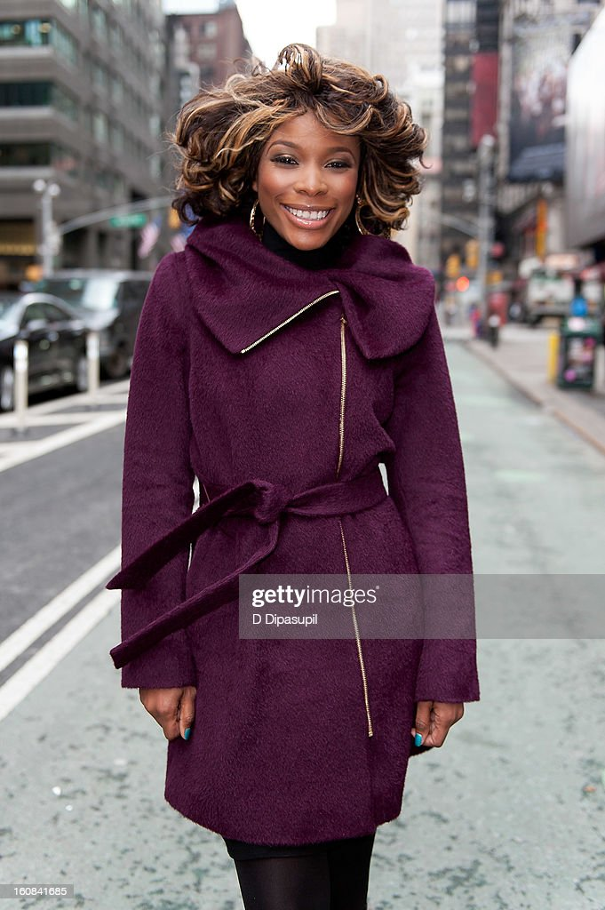 DJ K. Foxx visits 'Extra' in Times Square on February 6, 2013 in New York City.