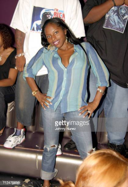 Foxy Brown during Hyypnotiq Party With DJ Clue and Fabolous at Deep in New York City New York United States