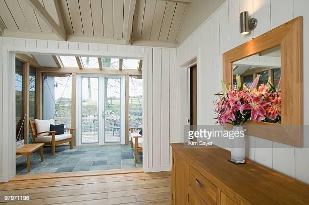 Foyer and sunroom