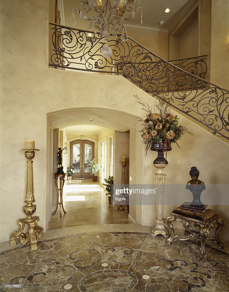 Mansion Foyer Zoning : Foyer in french mansion stock photo getty images