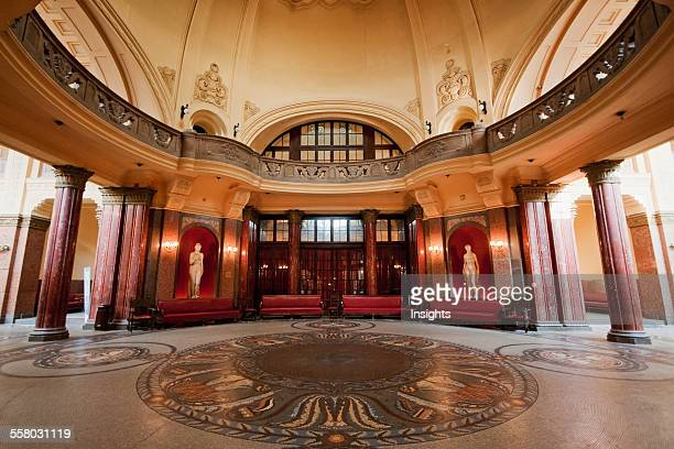 Foyer Of The Gellert Baths Budapest Hungary