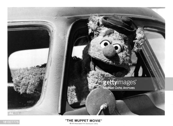 Fozzie Bear/Frank Oz on set of 'The Muppet Movie' in 1979