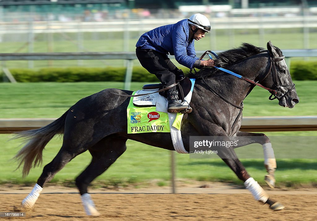 Frac Daddy trained by Ken McPeek runs on the track during morning training in preperation for the 2013 Kentucky Derby at Churchill Downs on April 30, 2013 in Louisville, Kentucky.