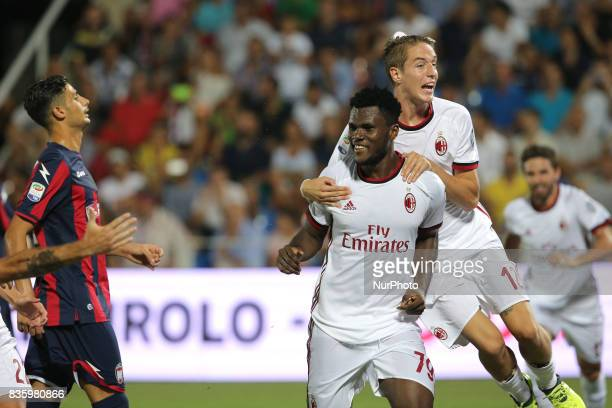 Frack Kessie during the Serie A match between FC Crotone and AC Milan on August 20 2017 in Crotone Italy