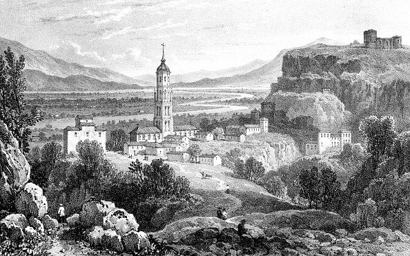 Fraga Spain  City pictures : Fraga, Spain, 1823.Artist: James Duffield Harding